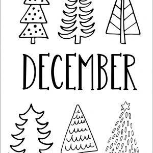 Black & White December Bullet Journal Pages