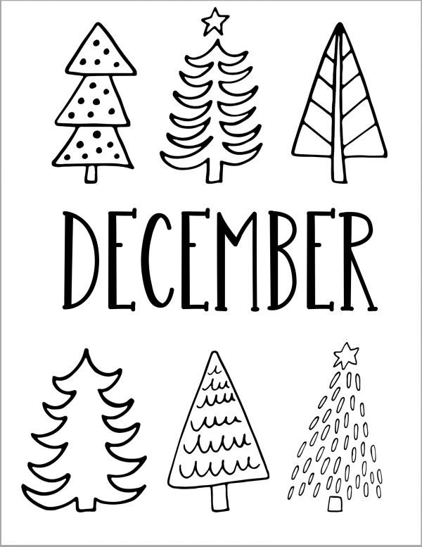 Black & White December Bullet Journal Pages