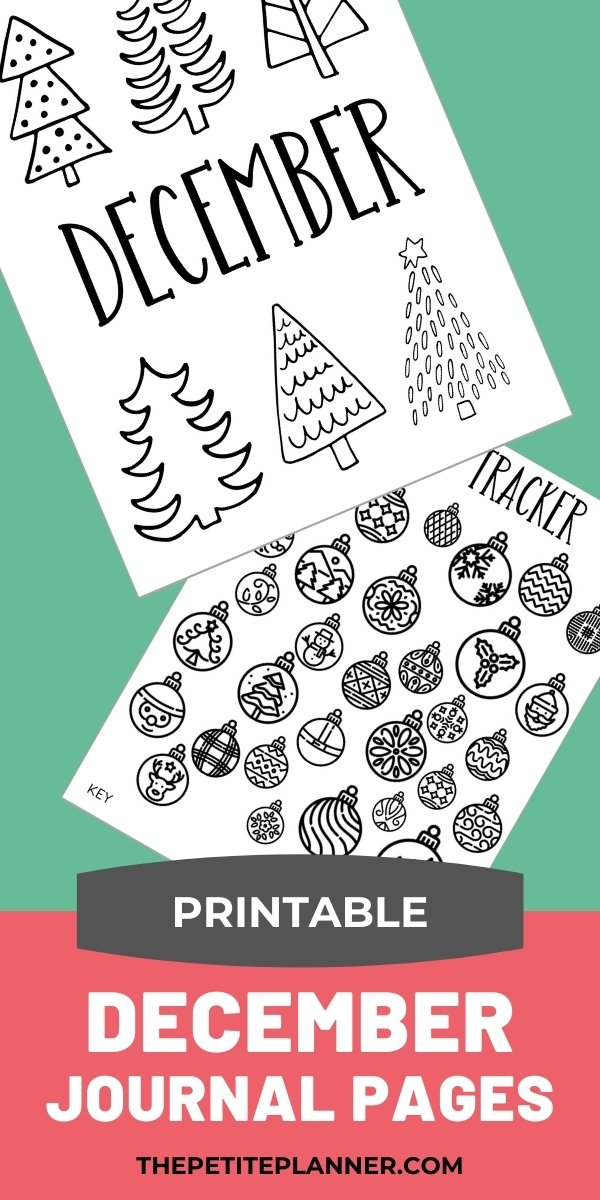 Printable December Bullet Journal Setup
