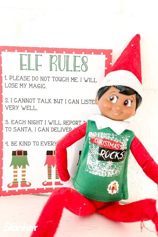 Printable Elf Rules for Elf on the Shelf