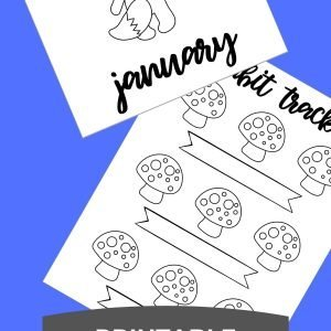 January Bullet Journal theme printable