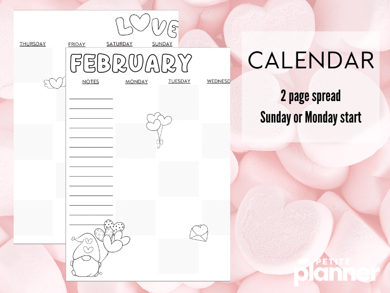 Valentine Gnome Bullet Journal Theme