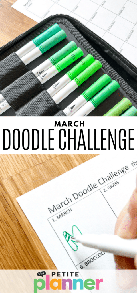 March Doodle Challenge Pin