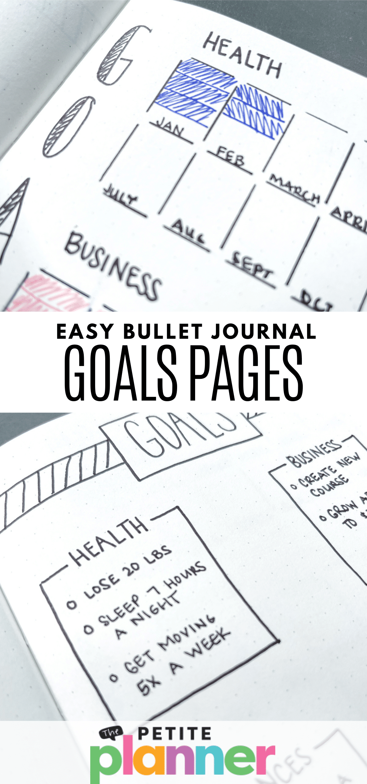 Easy Bullet Journal Goals Page Ideas
