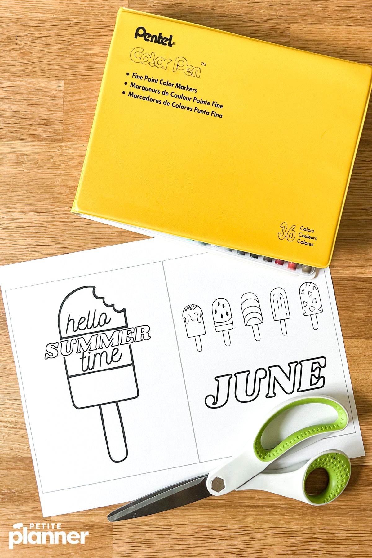 Printable bullet journal pages and Pentel marker case
