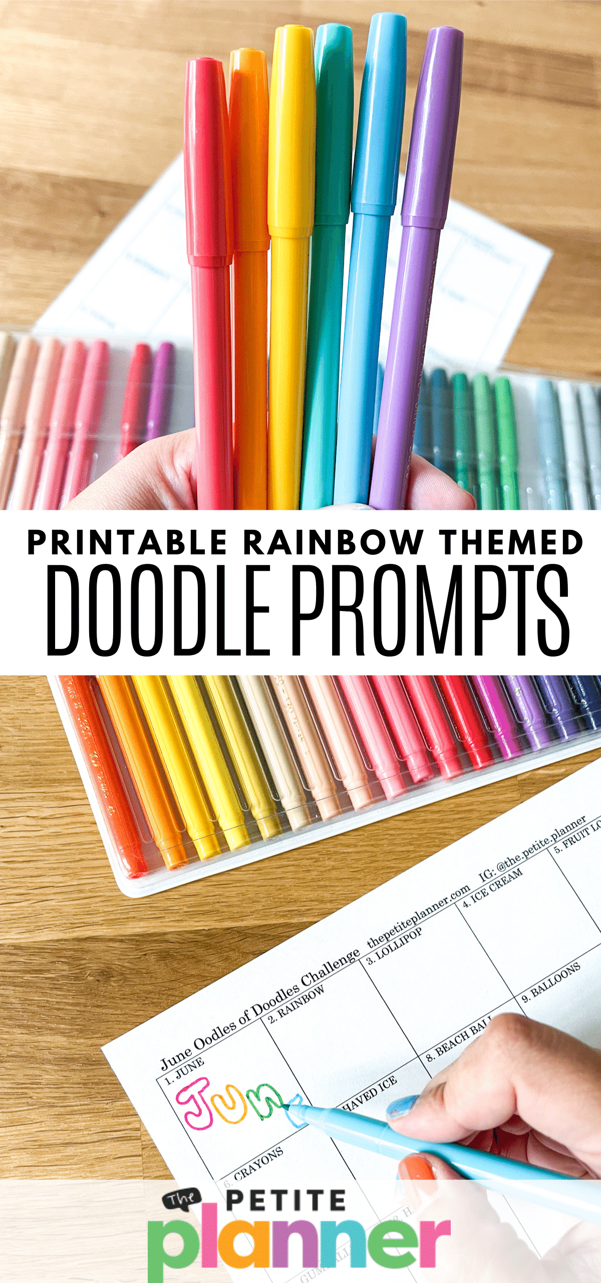 Rainbow Themed Doodle Prompts