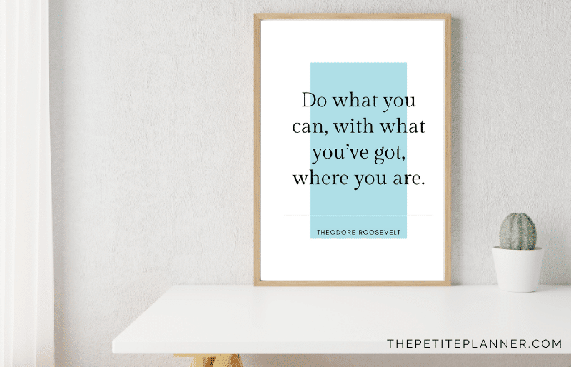 Mockup of stress relief quotes wall art