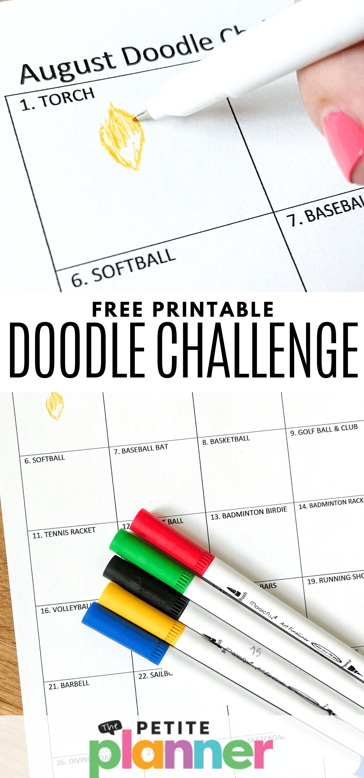 Printable Doodle Challenge Prompts