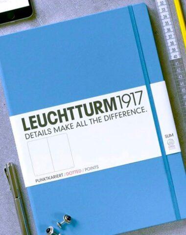 Blue Leuchtturm 1917 dot grid notebook