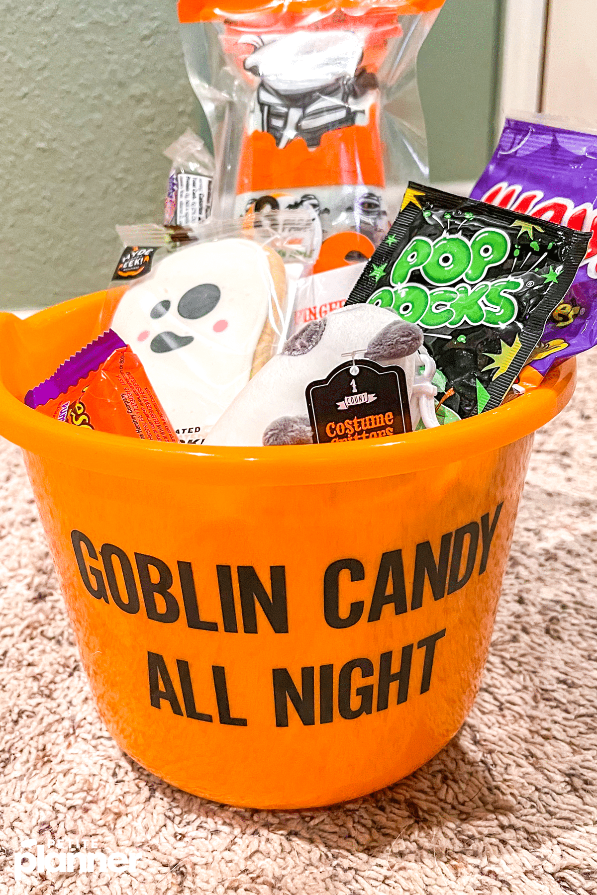boo Basket filled with Halloween candy and toys