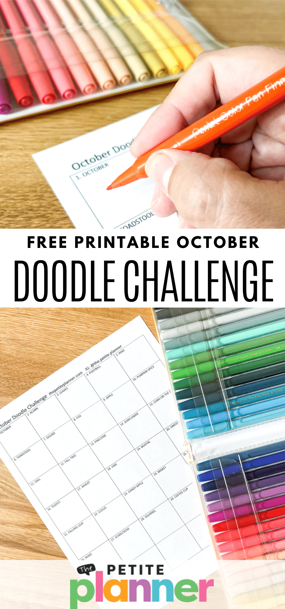 Free Printable Doodle Challenge for October