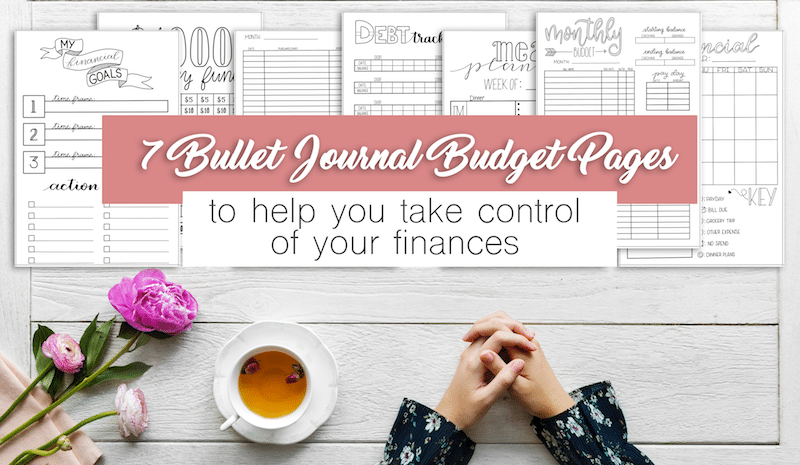 Bullet Journal Budget Printable Pages