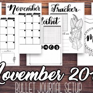 November 2018 Printable Bullet Journal Setup