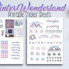 Winter Wonderland Printable Stickers for your Bullet Journal