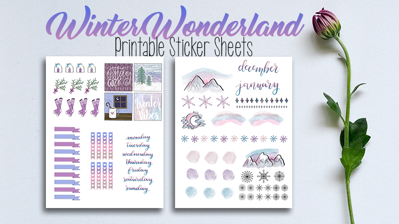 image about Bullet Journal Stickers Printable identified as Winter season Wonderland Printable Stickers